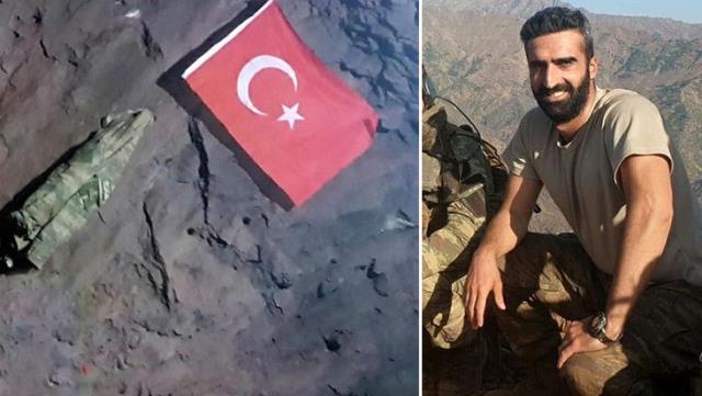 Gara'da Şehit Düşen Yüzbaşı Burak Coşkun, PKK Elebaşı Karayılan'ın Mağarasına Türk Bayrağı Asmış