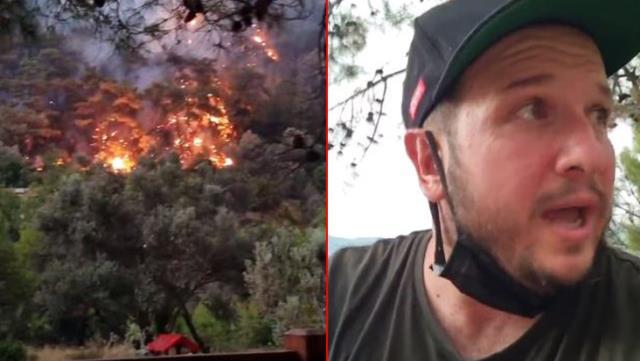 Yangın bölgesindeki Şahan Gökbakar'dan provokatör uyarısı: Adamı gırtlaklıyordum